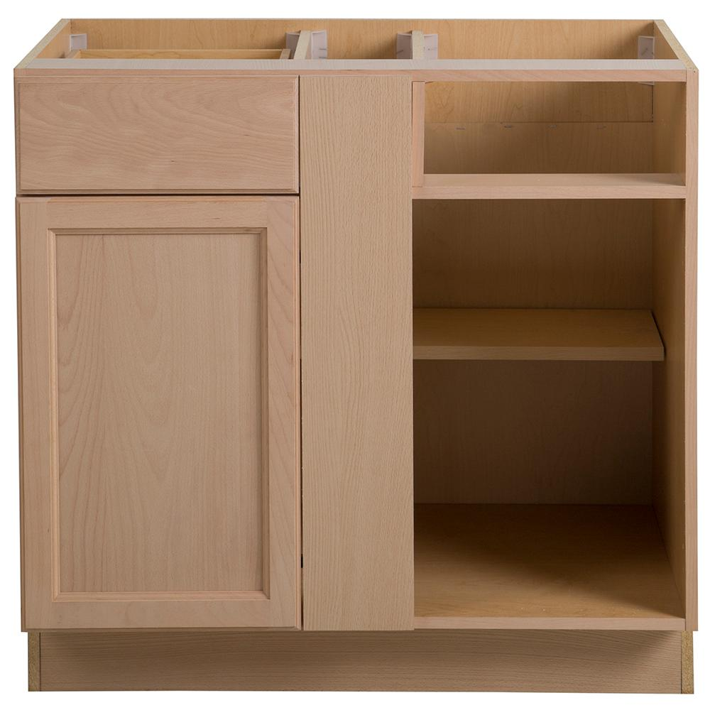 Hampton Bay Assembled 36x24.5x34.5 In. Easthaven Blind Base Corner Cabinet  In
