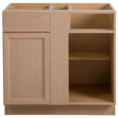 Easthaven Blind Base Corner Cabinet In Unfinished German