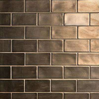 Oracle Metallic Copper 3 in. x 6 in. Polished Ceramic Subway Tile (1 sq. ft.)