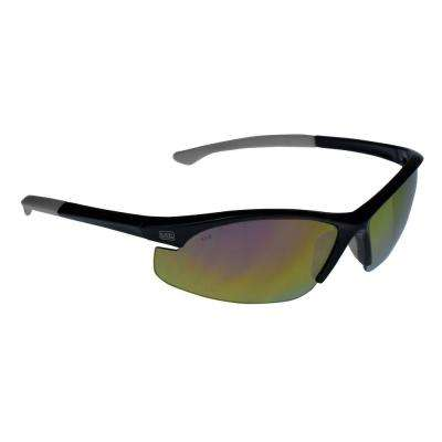 Flex Tip, Slim Frame Safety Glasses with Fire Mirror Lens