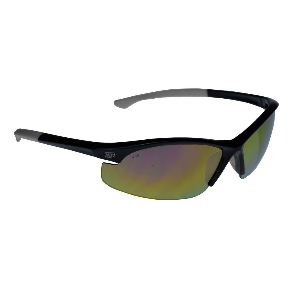 Flex Tip, Slim Frame Safety Glasses with Fire Mirror Lens