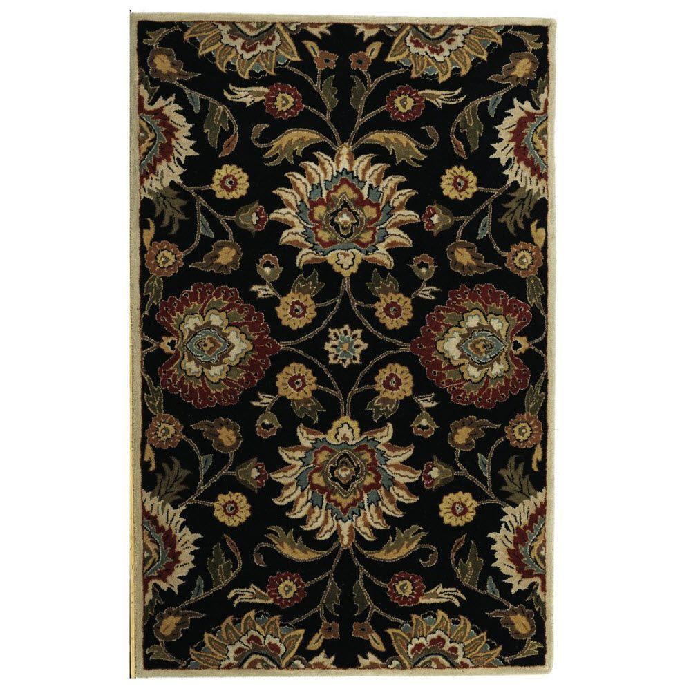 Home decorators collection echelon black 7 ft 6 in x 9 for Home decorators chenille rug