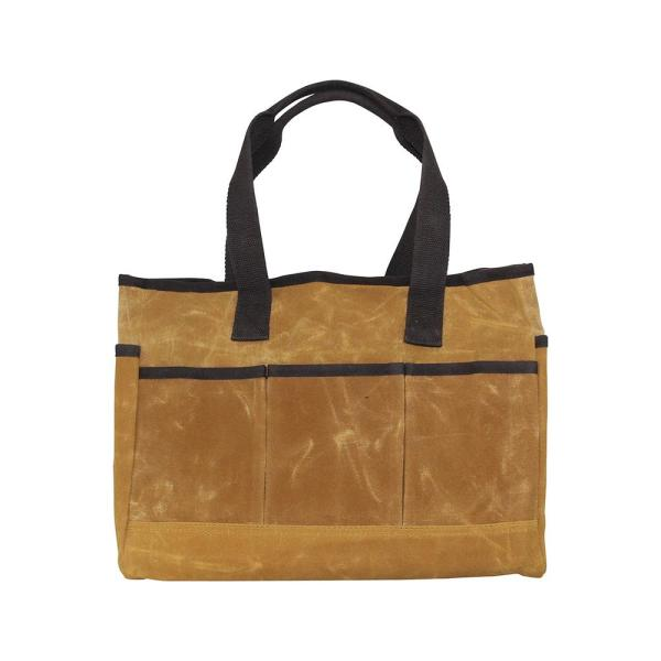 Waxed Canvas Yellow Utility Tote Bag