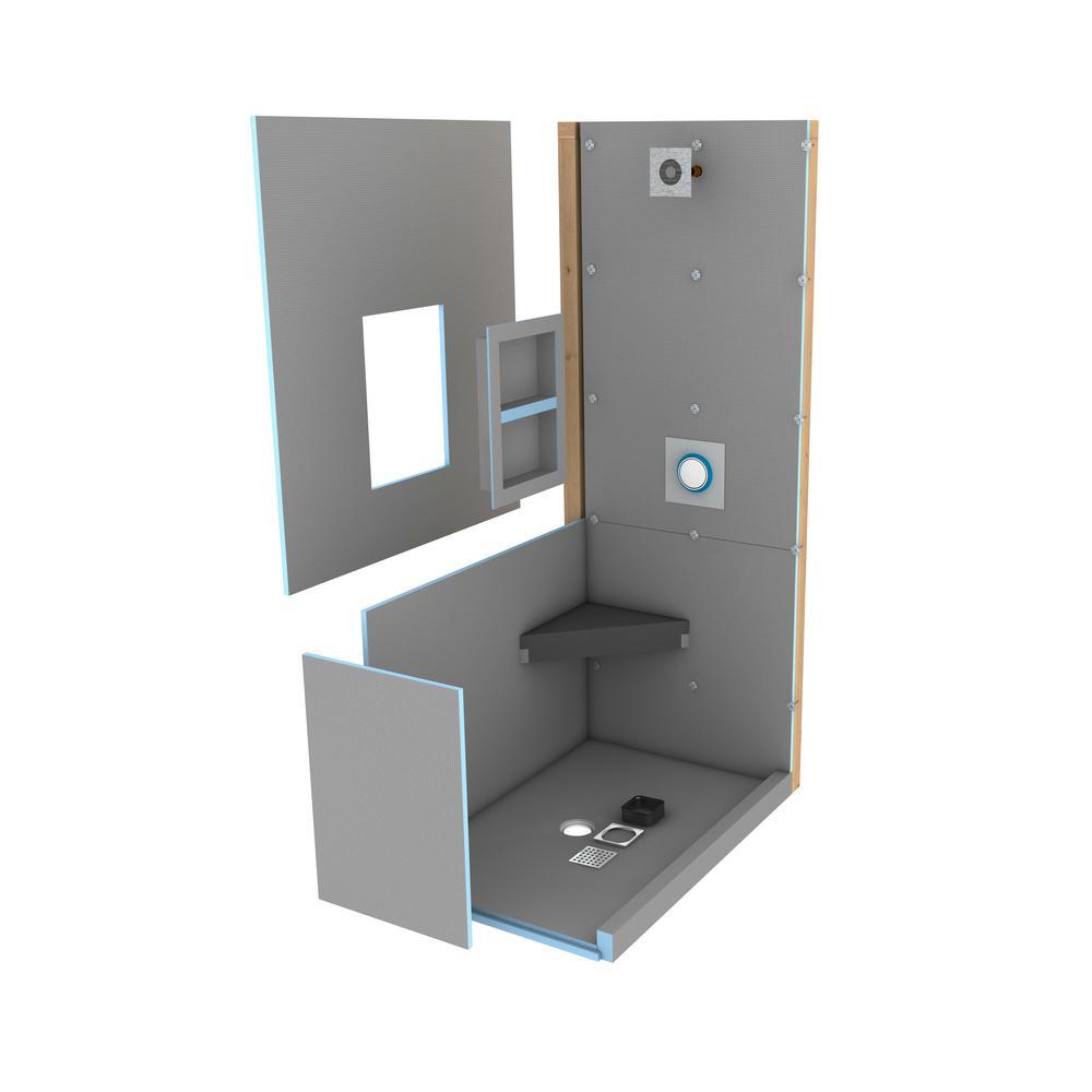 Wedi Fundo Primo 36 In X 48 Shower Kit