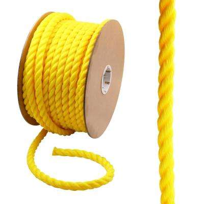 3/4 in. x 150 ft. Polypropylene Twist Rope, Yellow