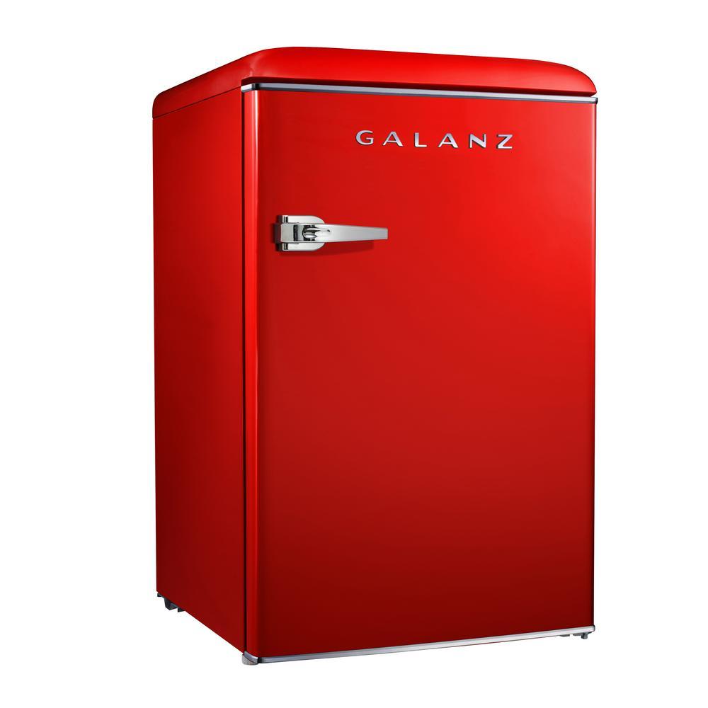 Galanz 4 4 Cu Ft Retro Mini Refrigerator Single Door