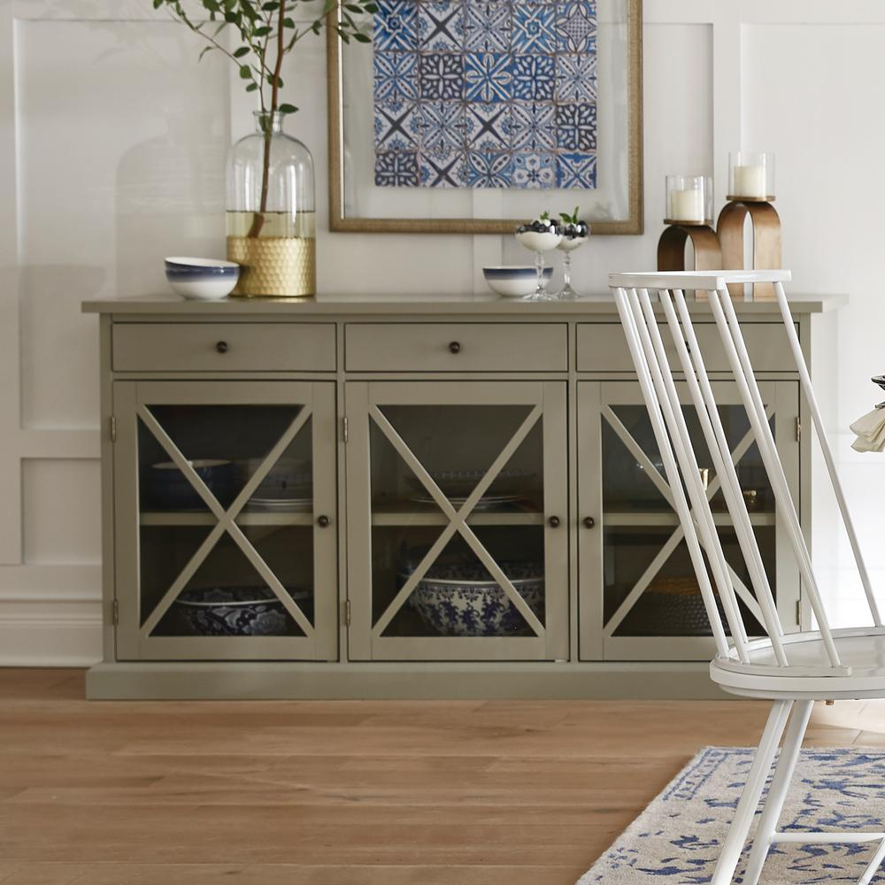 Home Decorators Collection Hampton Grey Buffet SK17912AR2-G