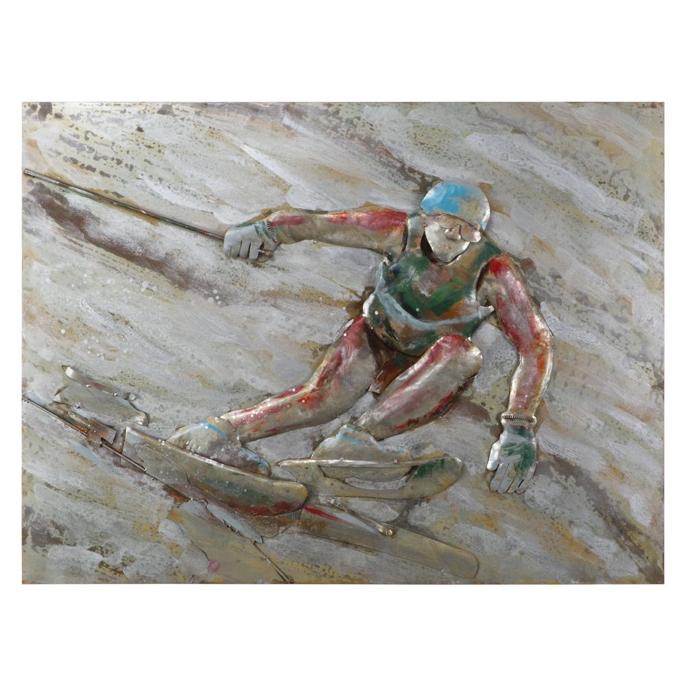 Yosemite Home Decor 47 in. H x 35 in. W Diversion II Original Hand Painted Wall Art in Metal Sheet