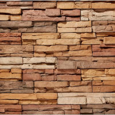ClipStone 9 in. x 4 in. Manufactured Stone Prostack Sand Corner Siding (4 ft. Pack), Multicolored & Brown