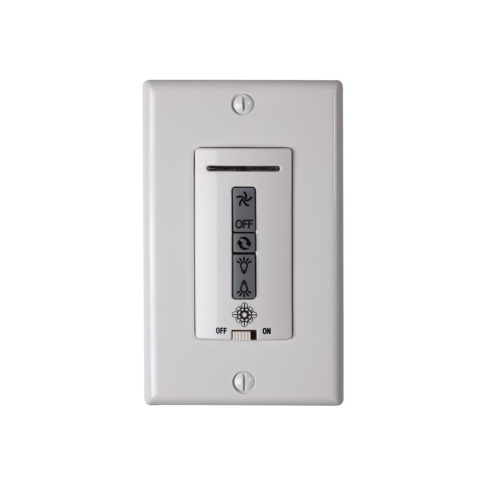White Hardwired Ceiling Fan Wall Control