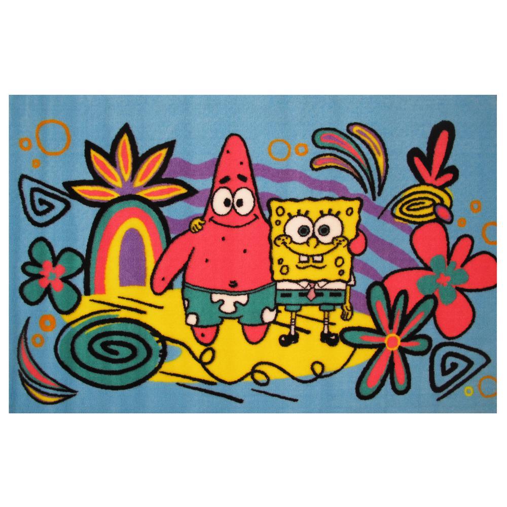 Sponge Bob & Patrick Blue 3 ft. x 5 ft. Area Rug
