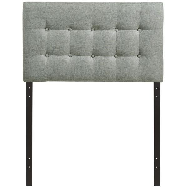 Emily Gray Twin Upholstered Fabric Headboard