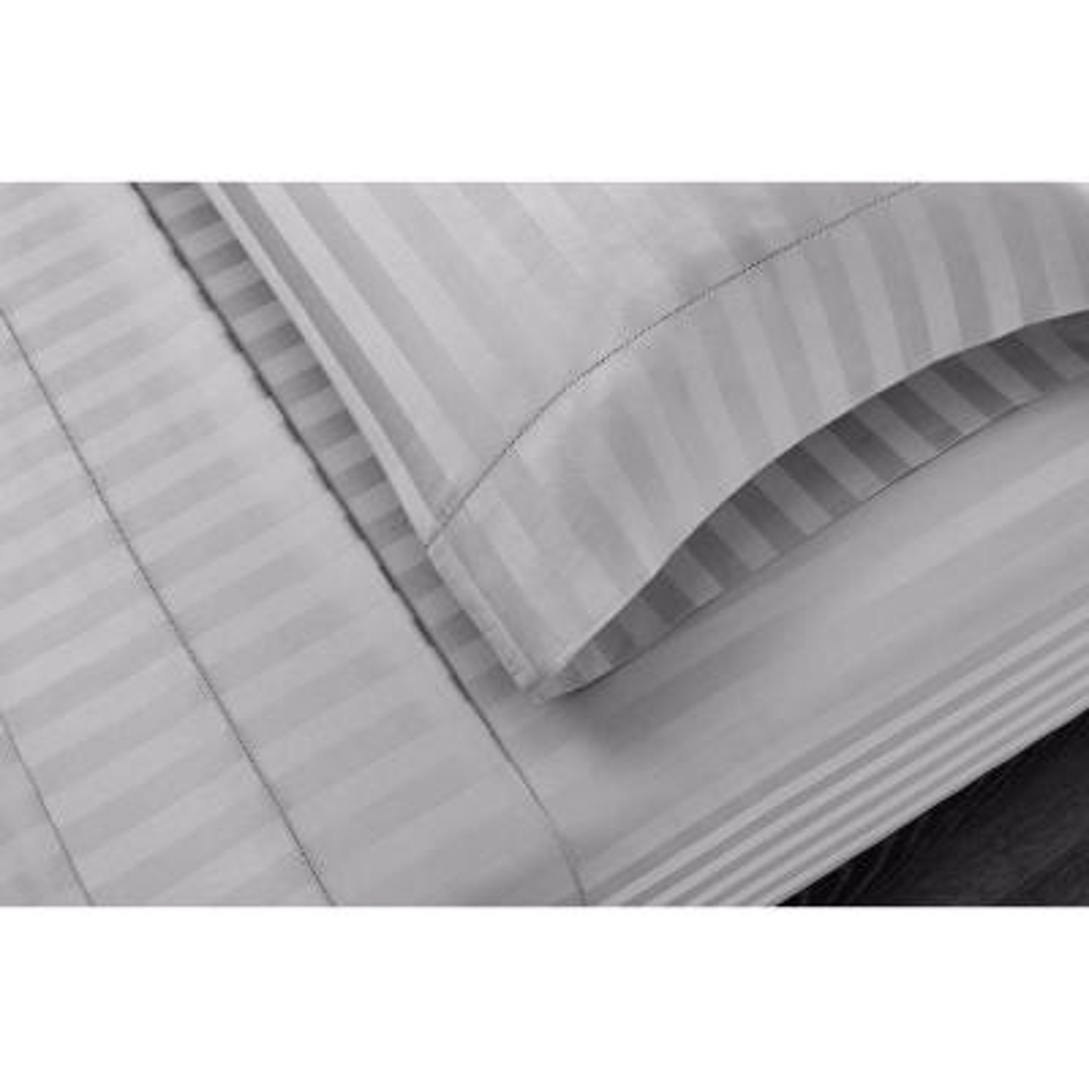 500 Thread Count Egyptian Cotton Damask Sateen 4-Piece Sheet Set