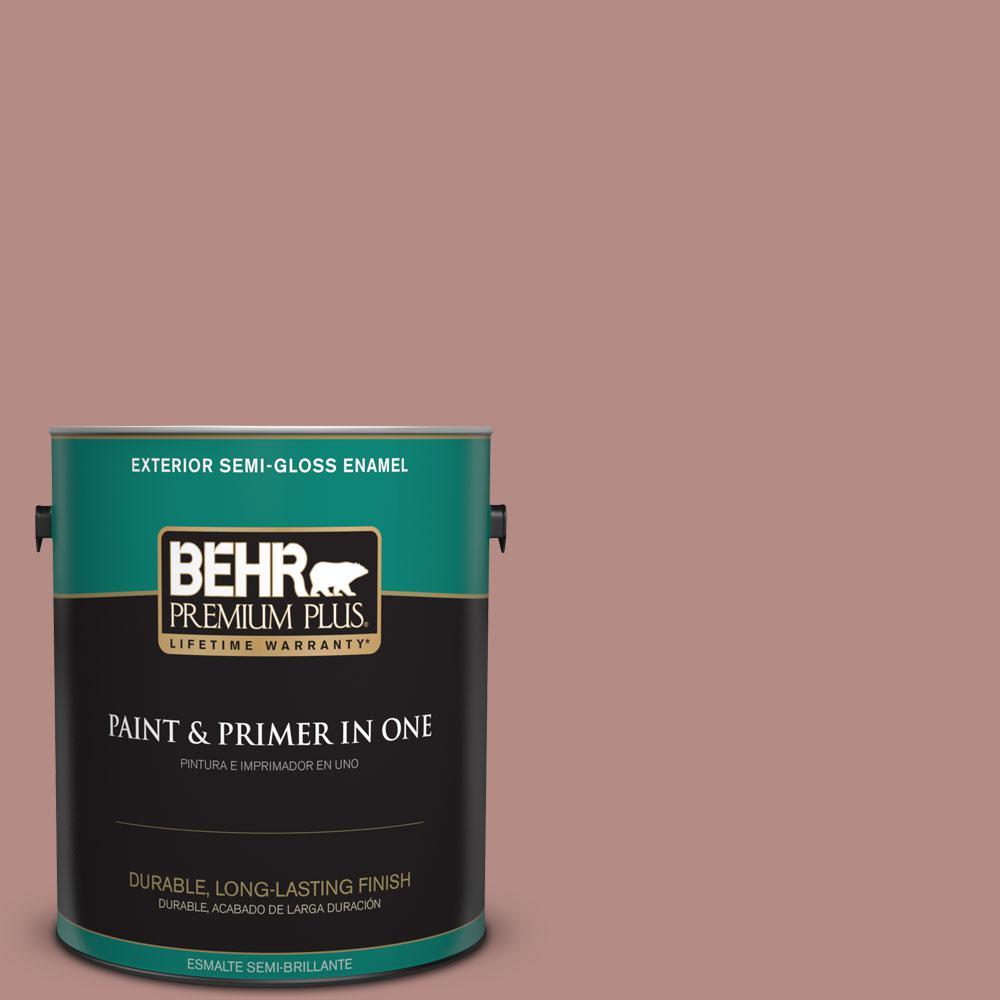 BEHR Premium Plus 1-gal. #190F-4 Warm Comfort Semi-Gloss Enamel Exterior Paint