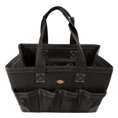 16 in. Soft Sided Construction Work Bin Tool Tote in Black