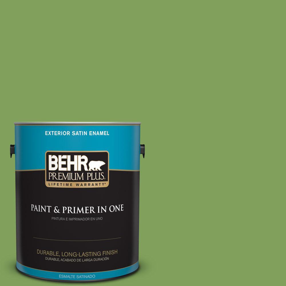 1-gal. #P380-6 Springview Green Satin Enamel Exterior Paint