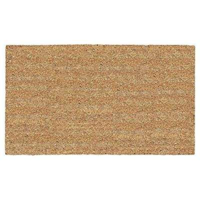 A1HC First Impression PVC Tufted Plain 36 in. x 48 in. Coir Door Mat with More Clean Area
