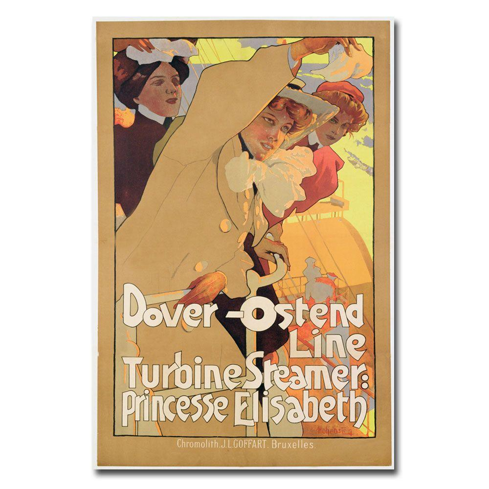 Trademark Fine Art 22 in. x 32 in. Fover-Ostend Line 1900 Canvas Art