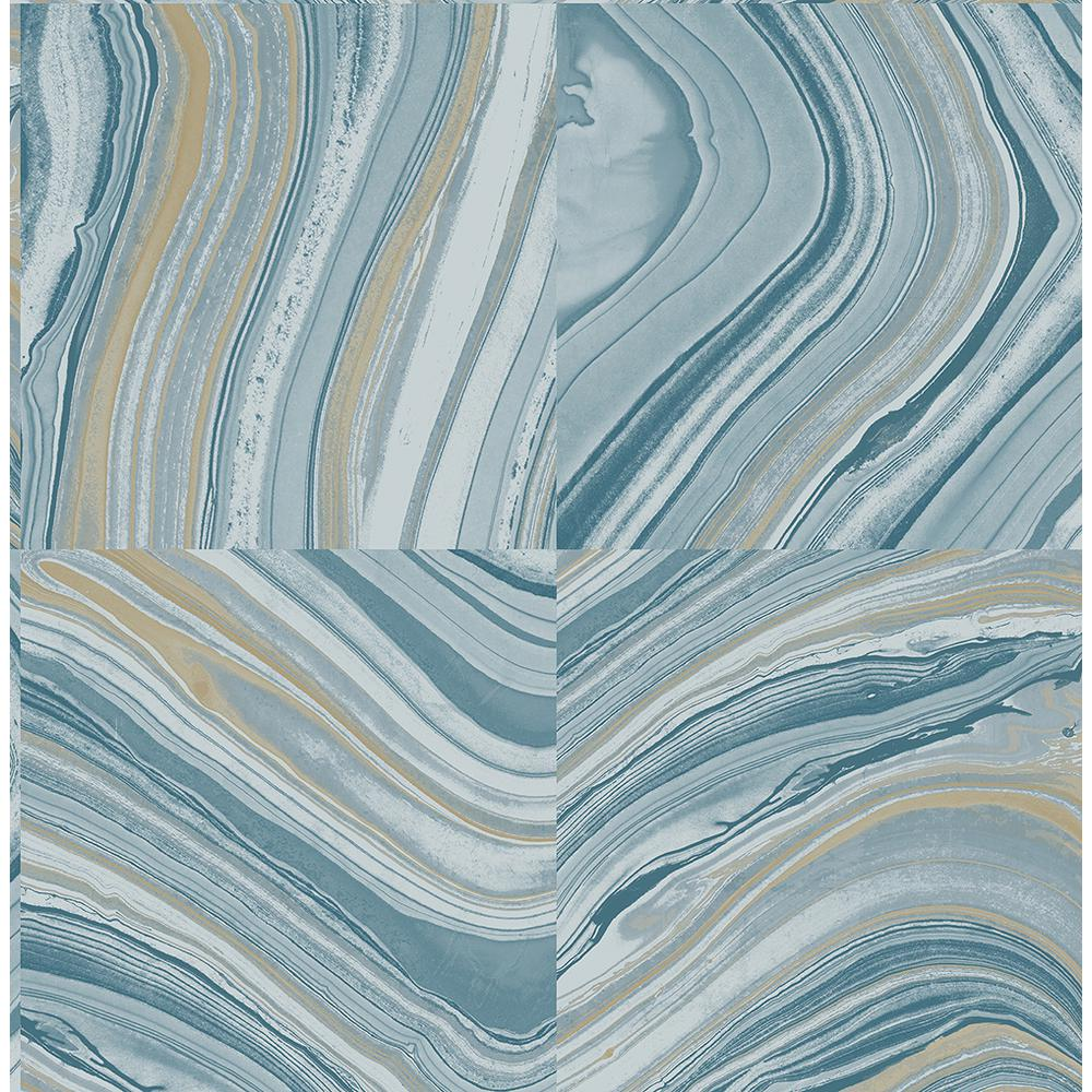 Agate Blue Stone Wallpaper, Green