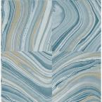 Kenneth James Agate Blue Stone Wallpaper