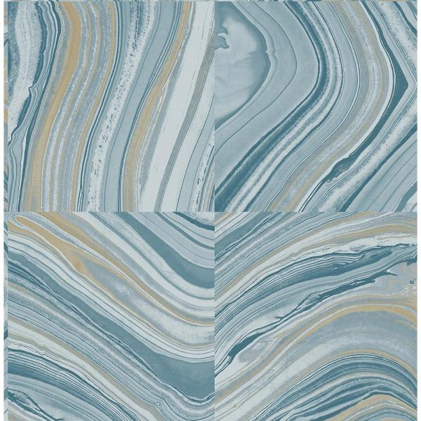 Kenneth James Agate Blue Stone Wallpaper 2671-22440
