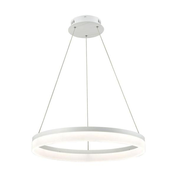 Cycloid 1-Light Matte White with Acrylic Diffuser Medium LED Pendant