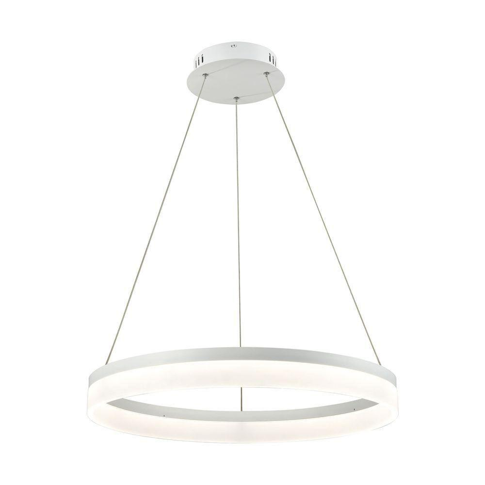 Titan Lighting Cycloid 1-Light Matte White with Acrylic Diffuser Medium LED Pendant  sc 1 st  Home Depot & Titan Lighting Cycloid 1-Light Matte White with Acrylic Diffuser ...