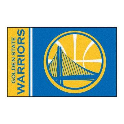 NBA Golden State Warriors Blue 2 ft. x 3 ft. Area Rug