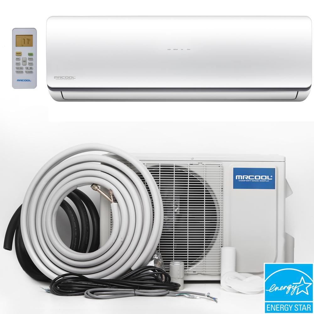 mrcool oasis hyper heat btu 1 ton ductless minisplit air conditioner and heat