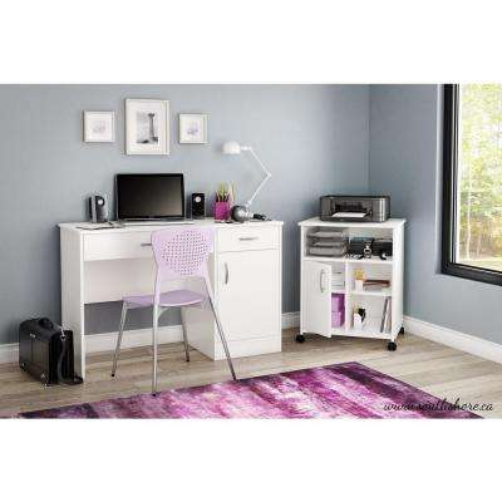 Axess Pure White Printer Stand