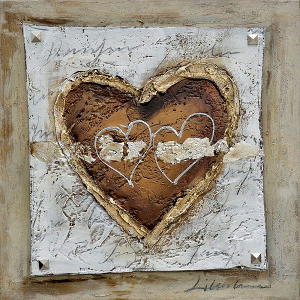 "Yosemite Home Decor 24 in. x 24 in. ""The Healing Heart II"" Contemporary Artwork"