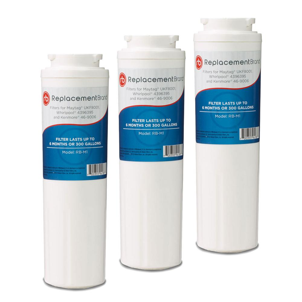 ReplacementBrand ReplacementBrand Refrigerator Water Filter Comparable to  Maytag UKF8001 (3-Pack)