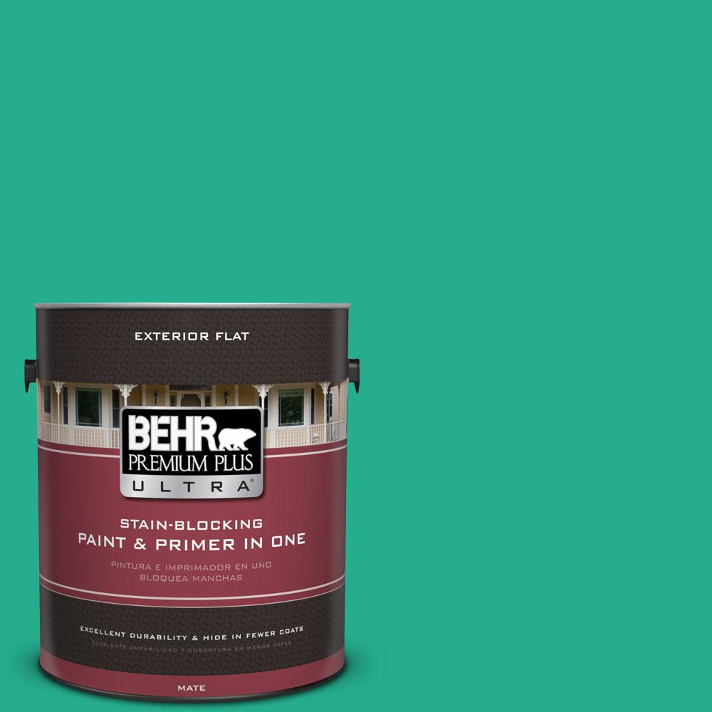 BEHR Premium Plus Ultra 1-gal. #P430-5 Enchanted Wells Flat Exterior Paint