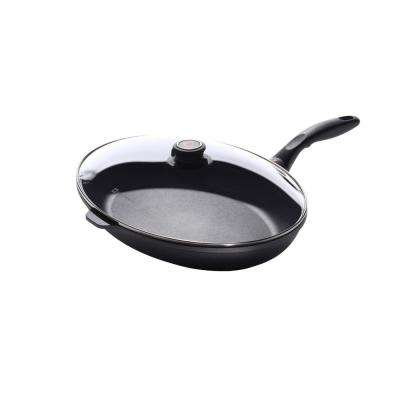 Nonstick Oval Fish Pan with Lid