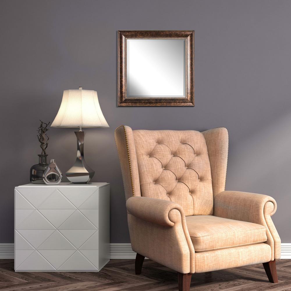 Hartley Square Brown Vanity Mirror