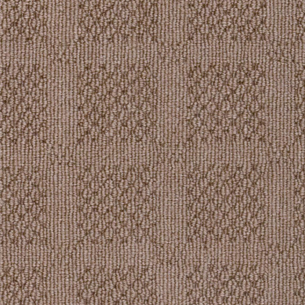 Carpet Sample - Savanna Square - Color Taupe Loop 8 in.