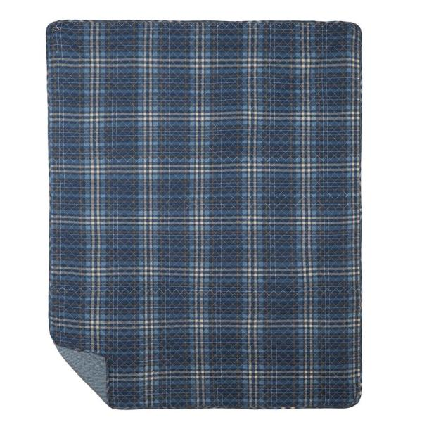 C&F HOME Anthony Navy Throw 842581920