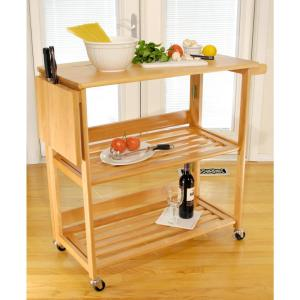 Winsome Wood Radley Natural Kitchen Cart 34137 - The Home Depot