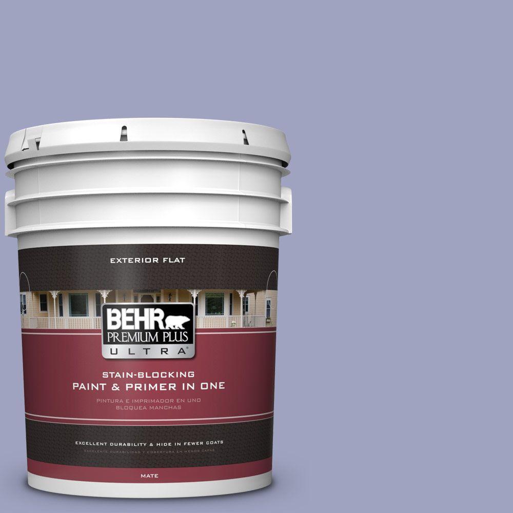 BEHR Premium Plus Ultra 5-gal. #620D-4 Veranda Iris Flat Exterior Paint