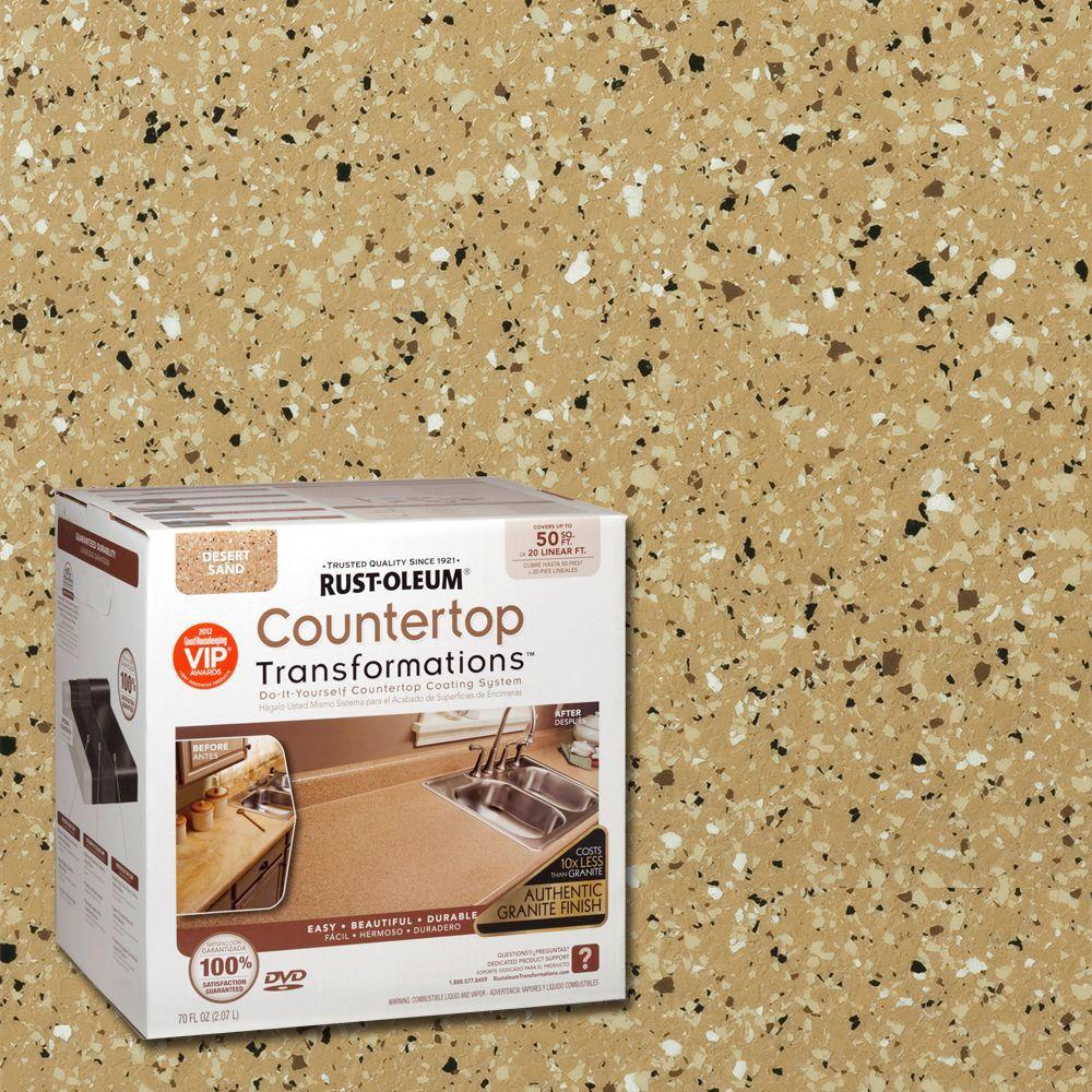 Rust Oleum Transformations 70 Oz Desert Sand Large Countertop Kit 258286 The Home Depot