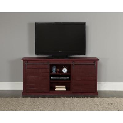 Huntington 64 in. Distressed Red Entertainment Console