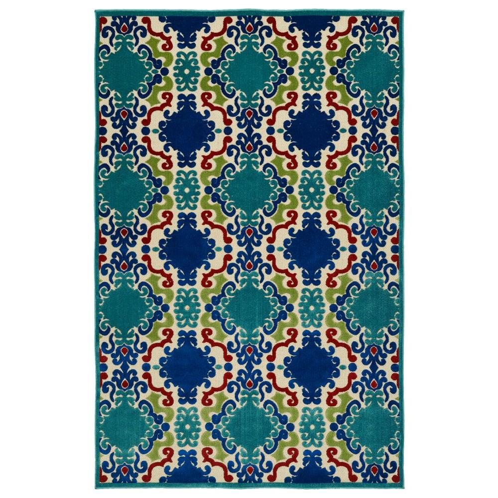 Kaleen Five Seasons Navy 9 ft. x 12 ft. Indoor/Outdoor Area Rug