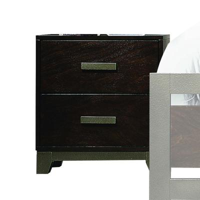 Amelia 2-Drawer 16 in. x 22 in. x 24 in. Walnut Wood Nightstand