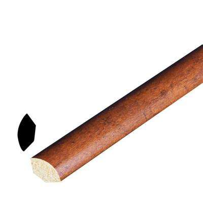 9/16 in. x 9/16 in. x 96 in. Polystyrene Whiskey Maple Quarter Round Moulding (Pack of 5)