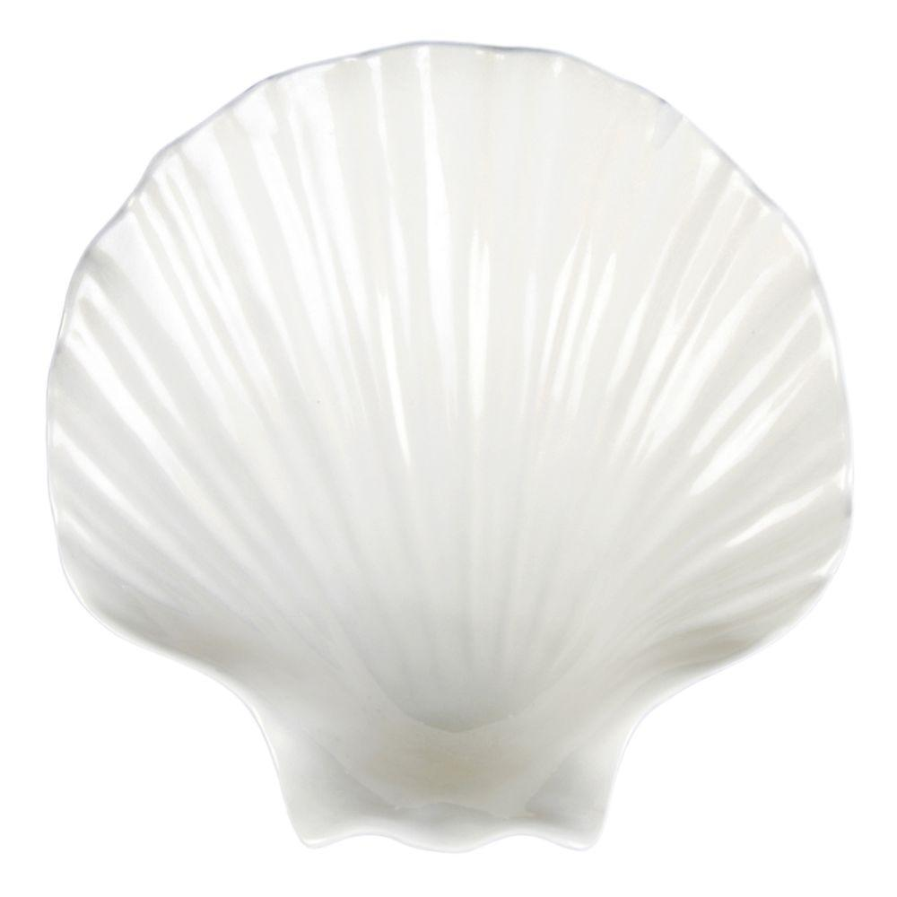 Restaurant Essentials Shell 12 oz., 6-3/4 in. x 6-3/4 in. Soup Bowl (1-Piece)