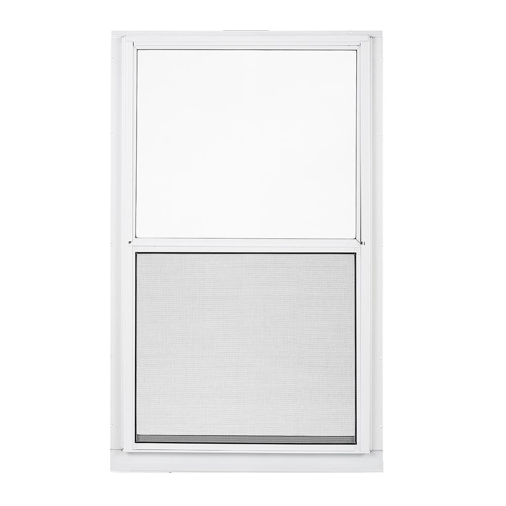 Larson 32 In X 55 2 Track Double Hung Storm Aluminum Window