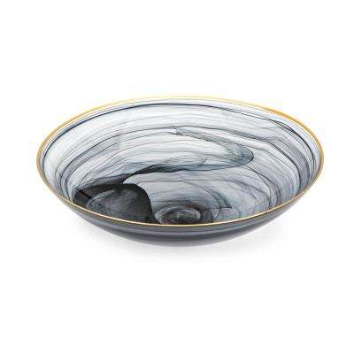 Yorkshire Black Decorative Glass Charger