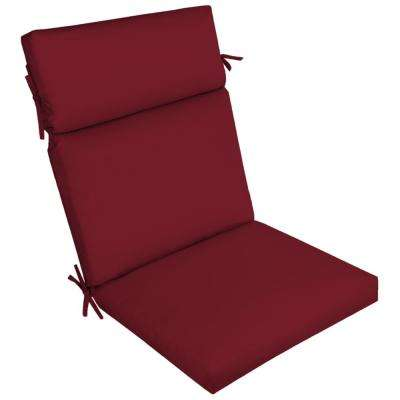 Caliente Canvas Texture Outdoor High Back Dining Chair Cushion