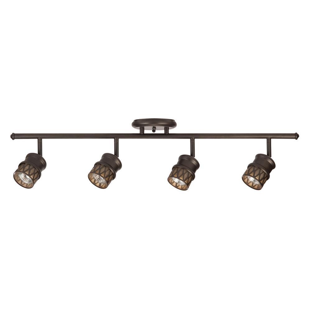 Norris 4-Light Oil Rubbed Bronze Adjustable Track Lighting Kit