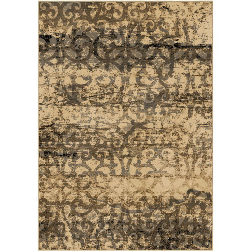 Orian Rugs Patterson Charcoal: Orian Rugs Classic Porta Beige 5 Ft. X 8 Ft. Indoor Area